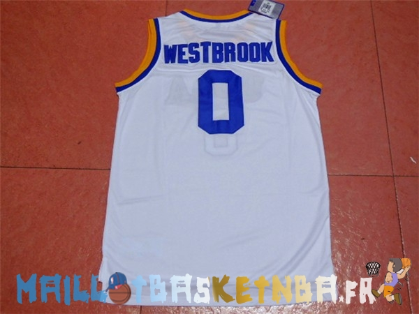 Maillot NCAA UCLA NO.0 Russell Westbrook Blanc Pas Cher