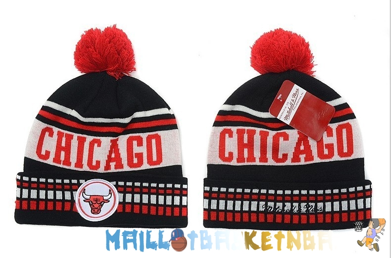 New Era Bonnet NBA 2016 Chicago Bulls Noir Rouge Blanc Pas Cher