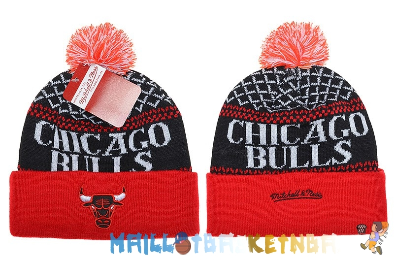 New Era Bonnet NBA 2016 Chicago Bulls Noir Rouge Pas Cher