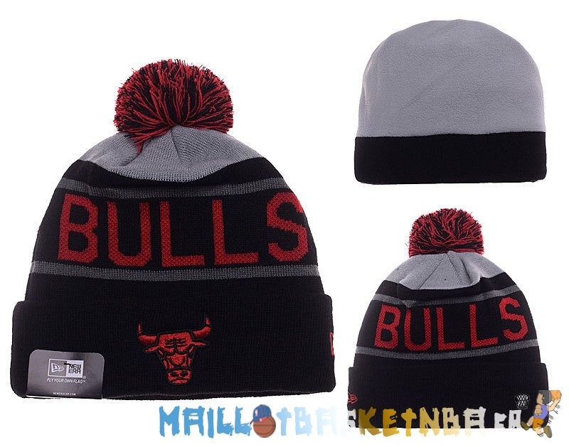 New Era Bonnet NBA 2016 Chicago Bulls Rouge Gris Pas Cher